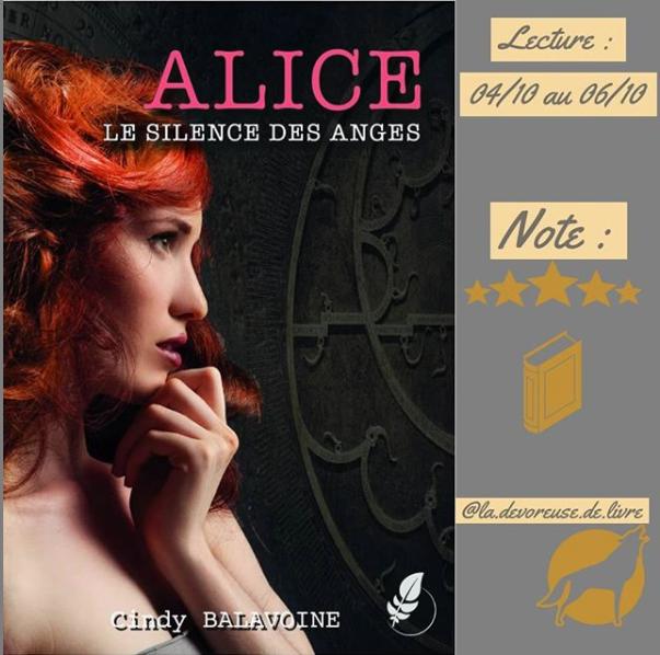 la.devoreuse.de.livre Avis Alice le silence des anges